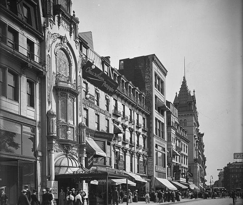 Boston Theater District  in Era of (soon to be published) Beguiled